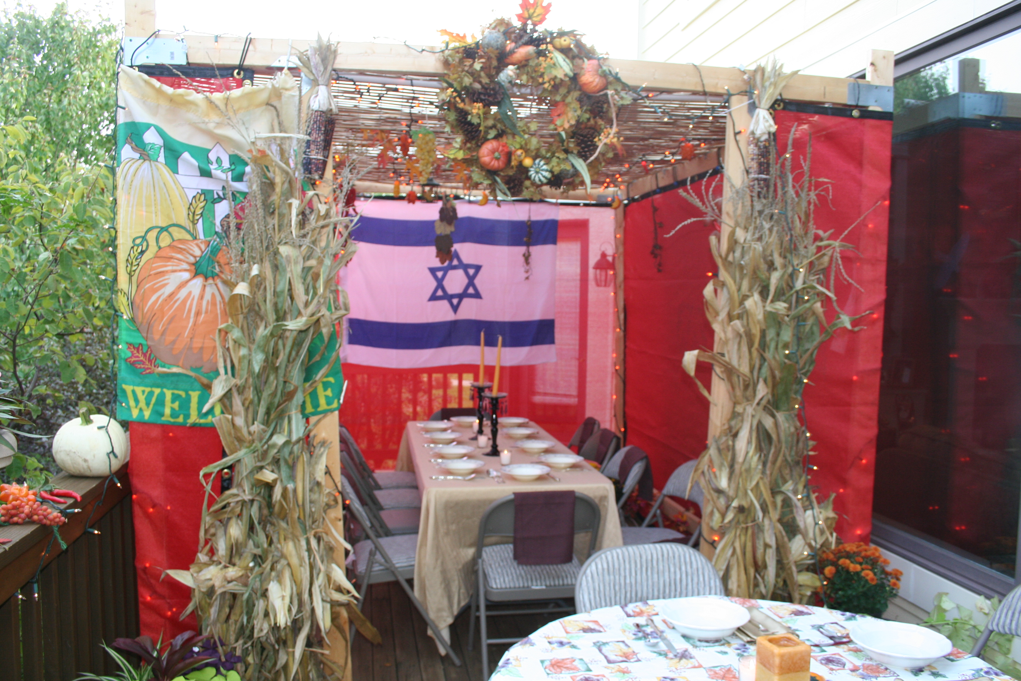 In The Sukkah Embodying Sacred