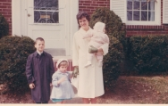 1964, looks like Easter. My mother's journey included parenting a special needs child, my sister who is blind. Embracing this role, my mother learned Braille and devoted much energy to my sister's flourishing.