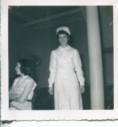 """After the """"capping"""" ceremony at the College of Mt. St. Joseph, 1952,"""